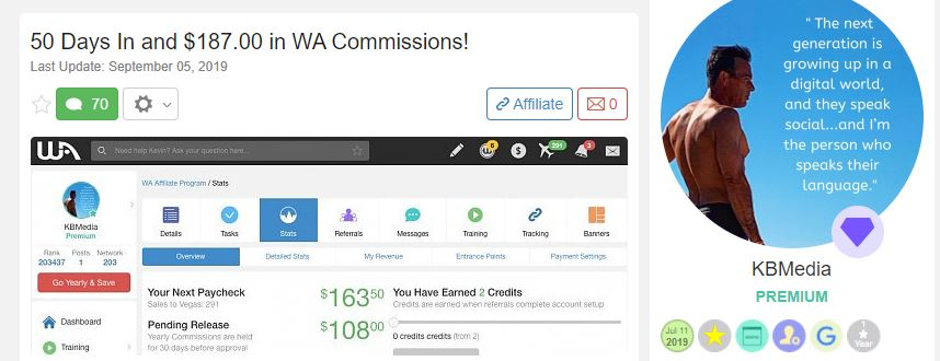 Wealthy Affiliate Review 2021 Testimonial